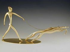 Hagenauer   Designer    Description Bronze Art Deco Sculpture of a woman walking two dogs   Country of Manufacture Austria   Date c.1935   Marks Hagenauer mark to base