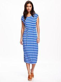 Tie-Waist Jersey Cocoon Dress for Women