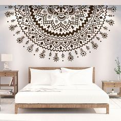 Bedroom Wall Designs, Wall Art Designs, Bedroom Decor, Home Decor Wall Art, Home Decor Furniture, Mandala Mural, Boho Room, Decoration, Image Search