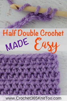 Learn how to Half Double Crochet. Easy tutorial with lots of pictures!