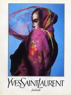 Yves Saint-Laurent (Fashion goods) 1990 Fashion Photography Scarf