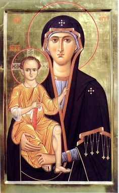 The Theotokos and the Christ Child Religious Images, Religious Icons, Religious Art, Byzantine Art, Byzantine Icons, Christian Artwork, Mama Mary, Russian Icons, Art Thou