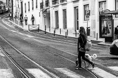 Walkin' the Dog Lisbon Portugal May 2013