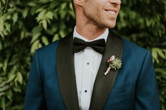 navy and black tuxedo for your groom