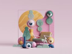 Eye Candy designed by Peter Tarka. Connect with them on Dribbble; the global community for designers and creative professionals. Game Design, Design Ios, Wireframe Design, 3d Street Art, Motion Design, 3d Character, Character Design, Cannes Lions, Hand Painted Textures
