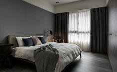 Wanfarbe Grau Naturtöne Textilien Vorhänge Blickdicht #wandverkleidung  #wall #livingroom