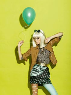 A story with baloon  Fashion story for ELLE magazine Bulgaria, The September Issue 2011
