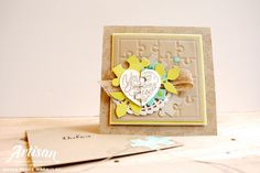 Stampin' Up! Love you To Pieces card Burlap Card, Burlap Ribbon, Love You To Pieces, Envelope Punch Board, Beautiful Handmade Cards, Missing Piece, Up Girl, My Stamp, Stamping Up