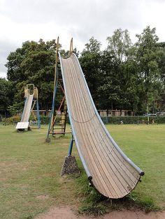 Vintage wooden slides
