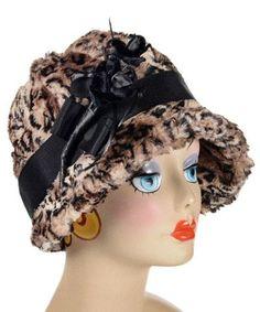 3713c7cbea6 Grace Cloche Style Hat - Luxury Faux Fur in Carpathian Lynx