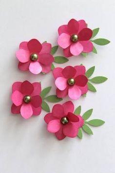 Resultado de imagem para flores de papel craft