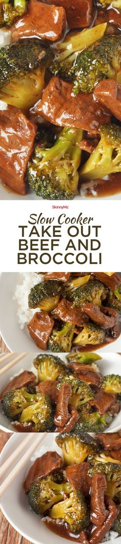 With lean steak and no refined sugar, Slow Cooker Take Out Beef and Broccoli has all the amazing taste of your usual Chinese food spot without the unhealthy additives. - sub coconut aminos for the soy Healthy Slow Cooker, Crock Pot Slow Cooker, Slow Cooker Recipes, Crockpot Recipes, Cooking Recipes, Healthy Recipes, Venison Recipes, Broccoli Beef, Broccoli Recipes