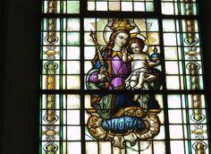detail kirchenfenster von st.martinus emmerke-niedersachsen