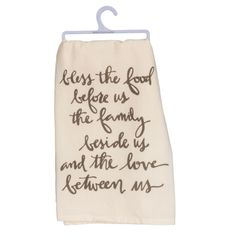 Bless The Food Dish Towel  Perfect Farmhouse Style!!