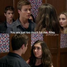 Girl Meets World (3x01) This broke my heart!!! <------ I CANT DECIDE IF I SHIP LUCAS AND RILEY OR MAYA AND LUCAS I CANT DECIDE-Sam