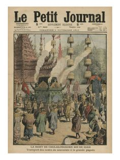 The Death of Chulalongkorn, King of Siam, Illustration from 'Le Petit Journal', 6th November 1910 Giclee Print by French School at AllPosters.com