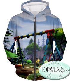 921a0c60 Fortnite Hoodies - Battle Royale Traps Gameplay 3D Zip Up Hoodie Zip Ups,  Rain Jacket