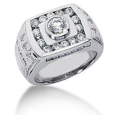 Men's Diamond Rings for Sale | 6,199.00 -Platinum Men's Diamond Ring 1.86ct-Diamond Rings For sale