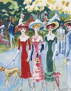 Kees Van Dongen (1877-1968) Gilberte Swann Et Des Amies Au Bois De Boulogne 1946 (24,6 x 21 cm)