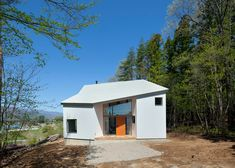 Japanese house designed to frame views of the surrounding mountains.