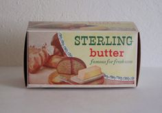 Vintage Sterling Butter Box Sterling Dairy Milk Co. Wauseon OH Ohio   eBay