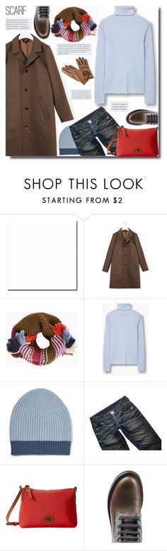 """""""Winter Scarf Style"""" by bynoor ❤ liked on Polyvore featuring A.P.C., BCBGMAXAZRIA, MANGO, Duffy, Thomas Wylde, Dooney & Bourke, Winter and scarf"""