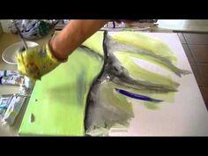 Abstract acrylic painting Abstrakte Acrylmalerei