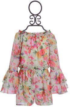 77b83eff2f52 Truly Me Tween Romper Floral Print PREORDER Tween Fashion