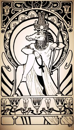 Sobek or Sebek (egyptian god) by schonheit