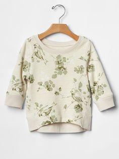 Floral hi-lo sweatshirt Product Image