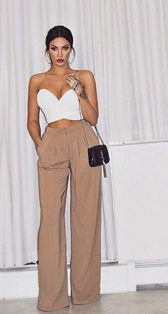 White tailor pants