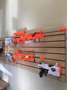 Cool Nerf Guns, Nerf Mod, Gun Rooms, Anime Weapons, Gun Storage, Picatinny Rail, Airsoft Guns, Boys Room Decor, Toys For Boys