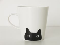 TIME IN HEART | Rakuten Global Market: ... From matano Atsuko マタノアツコ cat mug below face version