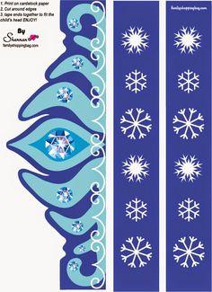 Frozen: Corona de Elsa para Imprimir Gratis.