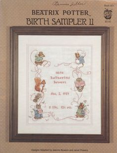 Cross Stitch Booklet  Beatrix Potter Births by SimplyCraftSupplies