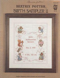 Cross Stitch Booklet  Beatrix Potter Births by SimplyCraftSupplies