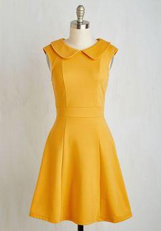 Foxtail & Fern Dress in Goldenrod