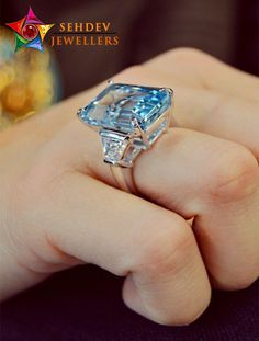 Blue is the color of trust, honesty, loyalty, reliability and responsibility. Perfect Emerald cut march birth stone engagement ring by Ascot Diamonds Natural Emerald Rings, Emerald Ring Gold, Aquamarine Jewelry, Round Cut Diamond Rings, Amazing Diamond Rings, Three Stone Engagement Rings, Birth Stone Rings, Solitaire Engagement, Ring Verlobung
