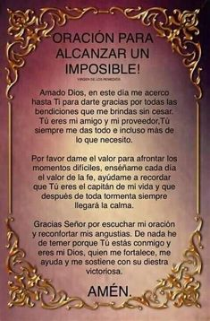 Prayer Scriptures, Faith Prayer, God Prayer, Prayer Quotes, Prayer For Love, Prayer For Family, Spiritual Prayers, Spiritual Messages, Catholic Prayers In Spanish
