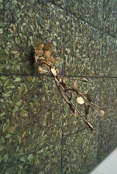 Giuseppe Penone: Breath the Shadow – Laurel Leaves (2008), metal grid, laurel leaves, bronze © Archivio Penone