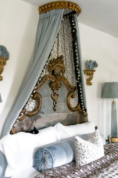 The bed, canopy,