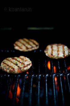 Grilled Lemongrass Chicken Burgers | KiranTarun.com #burgers #grilling #summer