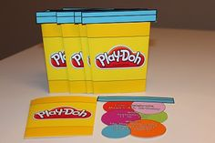 play doh party invitation