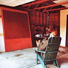 Silence is so accurate. - Mark Rothko #rothko Rothko in his studio