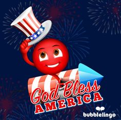 Happy 4th of July from Bubblelingo! Be sure to download your 4th of July stickers and e-cards in the Bubblelingo App! #bubblelingo #freeapp #messaging #4thofJuly #IndependenceDay #ecards #emoji #emoticons #stickers