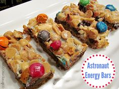 Astronaut Energy Bars   Easy Layer Bars made simply by layering ingredients and baking, great for children parties and snacks.
