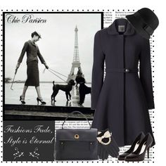 I love this look for a cold winter day in the city! Cool Outfits, Fashion Outfits, Fashion Ideas, Oui Oui, Parisian Chic, Playing Dress Up, I Dress, Autumn Winter Fashion, Nice Dresses