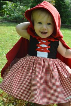 Guess what K is going to be this year for Halloween?   Little Red Riding Hood!!   Isn't this costume precious?         These pics are from ...