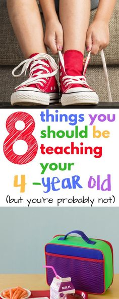 8 Things you should be teaching your four-year-old.