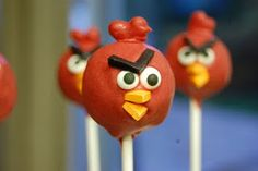 "cake pops ~ all things ""Angry Birds""...."
